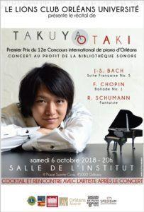 Récital de Takuya Otaki à Orléans