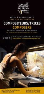 Call to candidacity Composer – 2020 Competition