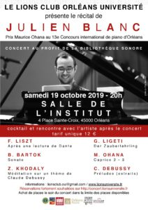 Recital of Julien Blanc, Orléans