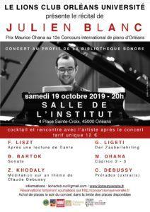 Récital de Julien Blanc à Orléans